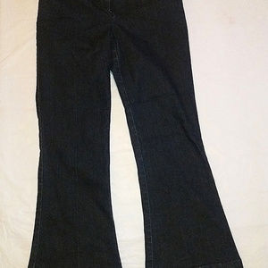 The Limited Fit And Flare Dark Blue Jeans